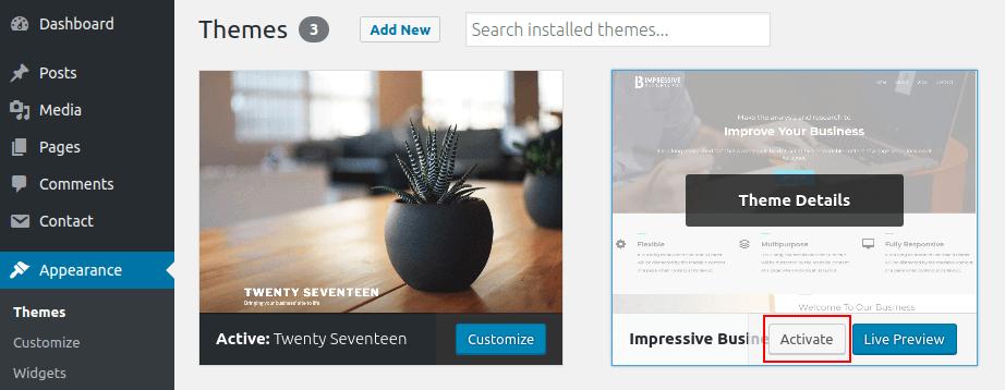 Impressive Business Pro WordPress Theme Documentation